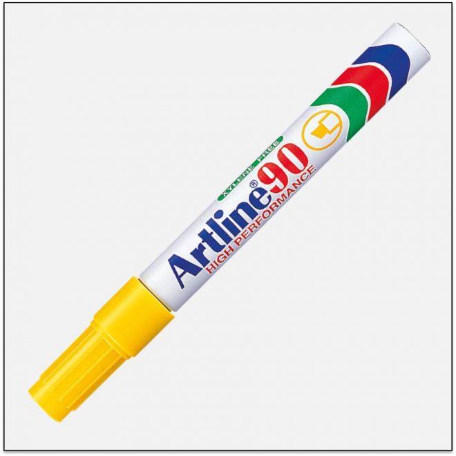 EK 90 YELLOW Bút lông dầu không phai Artline Japan 1