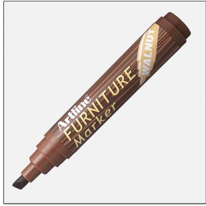 EK 95 WALNUT bút che vết trầy gỗ artline japan