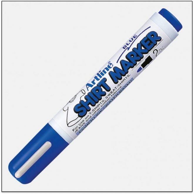 EKT 2 BLUE bút vẽ áo không phai artline Japan