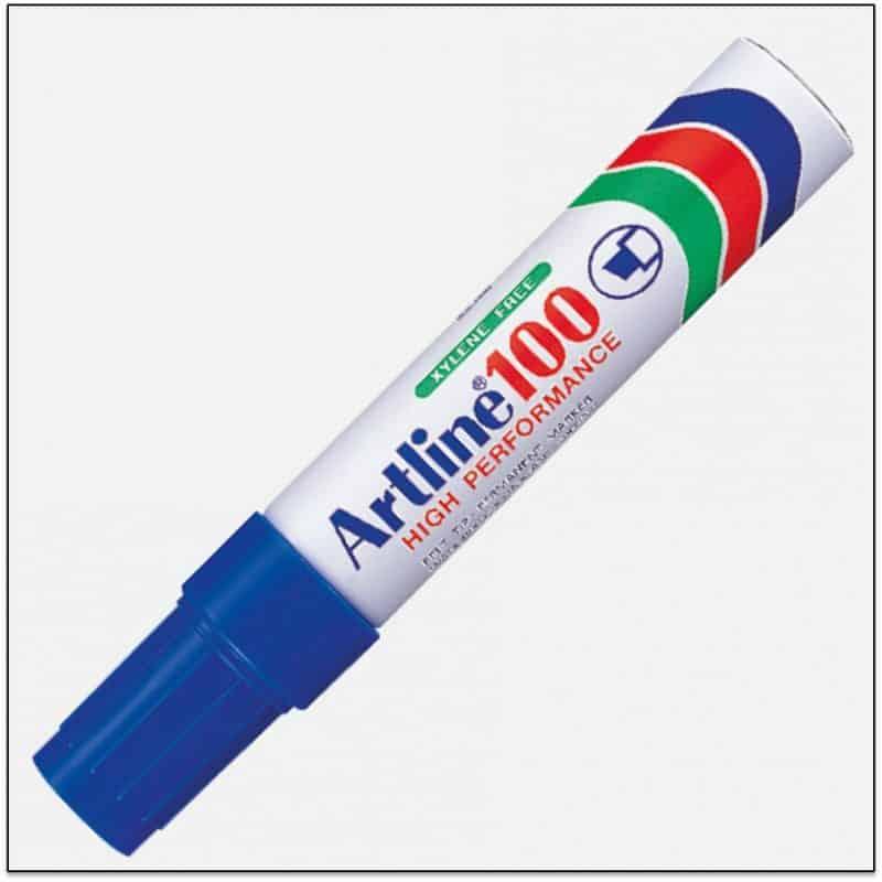EK 100 BLUE Bút lông dầu ngòi lớn không phai