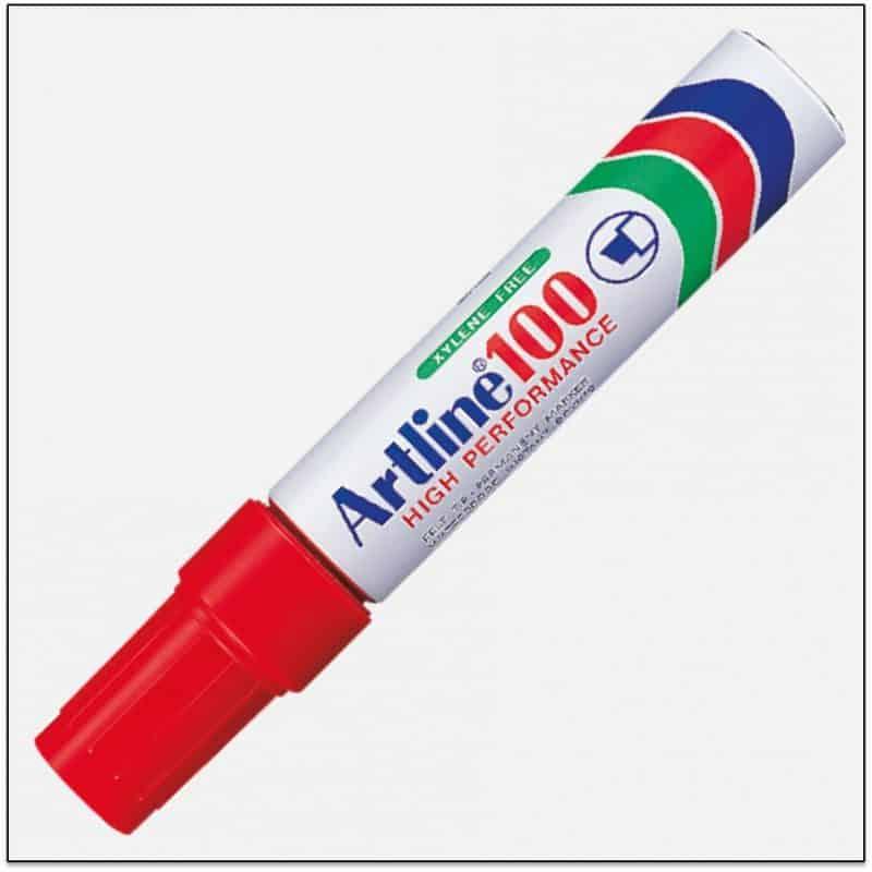 EK 100 RED Bút lông dầu ngòi lớn không phai.png