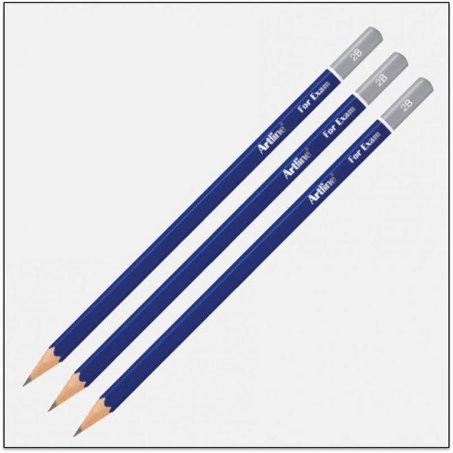 EP 2B Bút chì gỗ 2b màu đậm 1