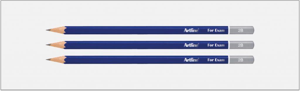 EP-2B Bút chì gỗ 2b màu đậm Artline Japan