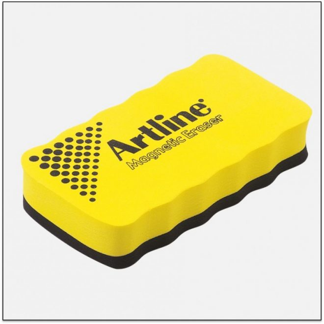 ERT MM Yellow Tấm lau bảng trắng có nam châm artline japan