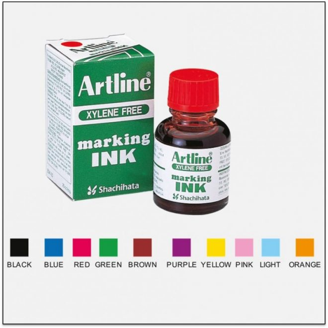 ESK 20 Mực lông dầu không lem không phai artline japan