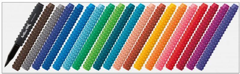 ETX F bút thư pháp ngòi brush lắp ráp lego artline Japan
