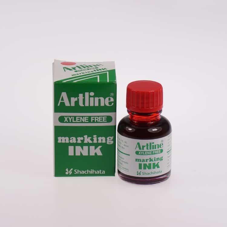 Mực lông dầu Artline không phai ESK 20 RED min