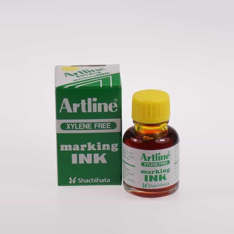 Mực lông dầu Artline không phai ESK 20 YEL min