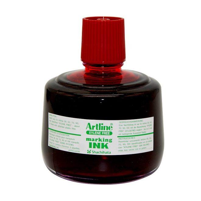 Mực lông dầu Artline không phai ESK 3 red
