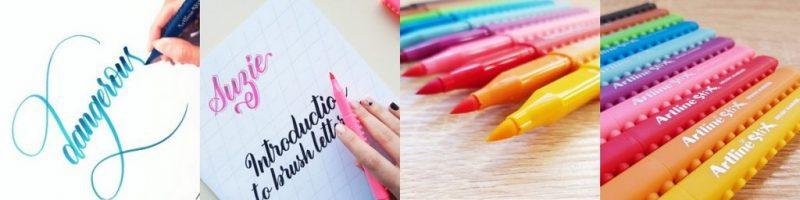 bút brush ngòi cọ - Kỹ thuật sử dụng bút Artline Brush