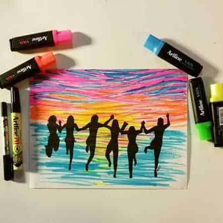 bút dạ quang - Cây bút dạ quang có màu sáng đẹp nhất