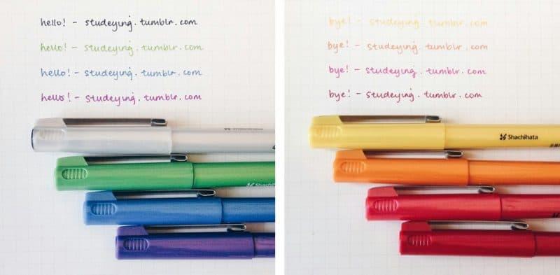 bút lông kim màu đẹp 1 - Cây bút lông kim bạn không nên dùng