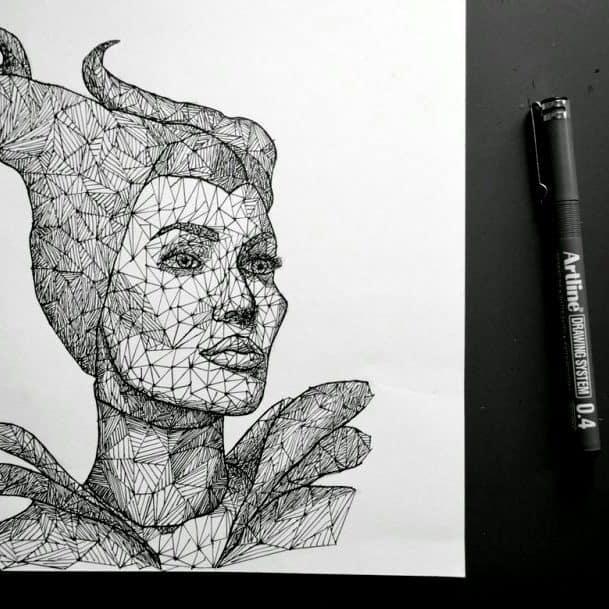 bút lông kim vẽ kỹ thuật kiến q trúc