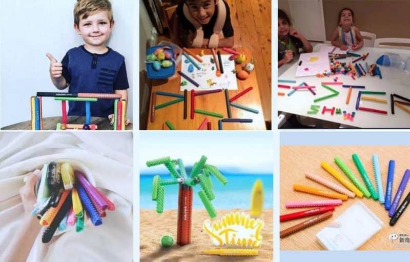 bút lắp ráp sáng tạo - Artline stix có thể giúp trẻ xa rời smartphone