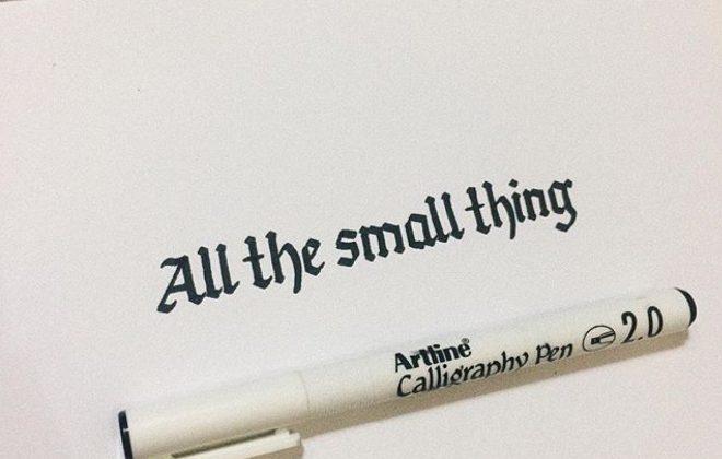 bút thư pháp artline calligraphy