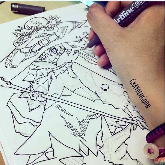 bút vẽ kỹ thuật anime