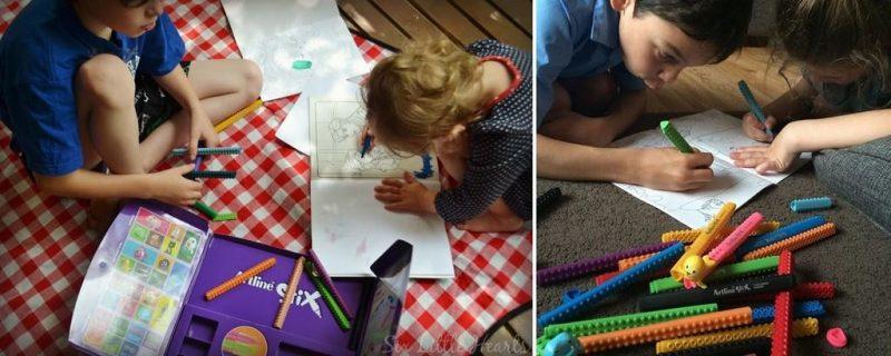 bút viết lắp ráp sáng tạo - Artline stix có thể giúp trẻ xa rời smartphone