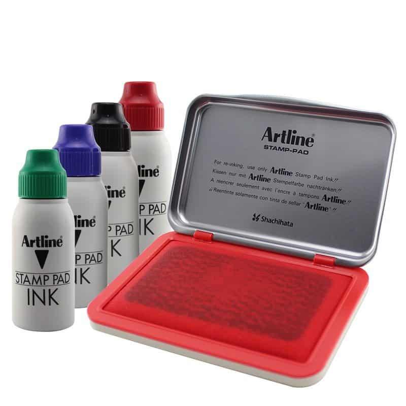 mực đóng dấu tròn công ty Artline Japan
