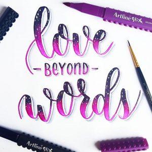 17817810 396396574079980 5043833567482740736 n 300x300 - Những tác phẩm calligraphy ấn tượng từ cây bút Artline Stix