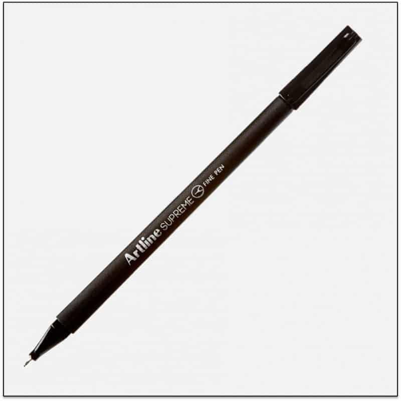 ARTLINE SUPREME Black bút lông kim cao cấp