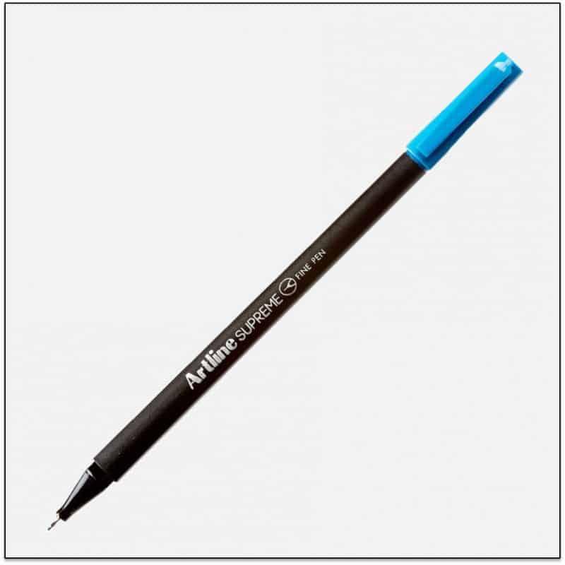 ARTLINE SUPREME bút lông kim cao cấp SKY BLUE BX12