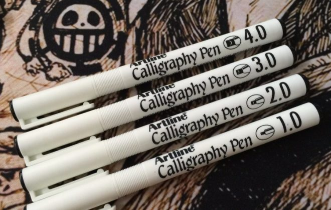 Artline Calligraphy full bộ 4 cây