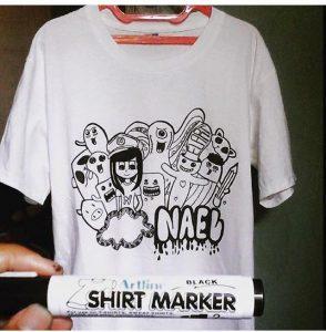 Artline Shirt Marker vẽ áo không phai Black 294x300 - Bút vẽ áo giặt không phai Artline T-shirt marker