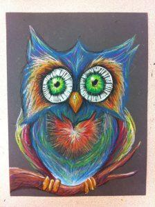 Hướng dẫn bé vẽ tranh sáp dầu 6 224x300 - Hướng dẫn bé vẽ tranh với Bút Sáp Artline Pastel EOP-A-12S