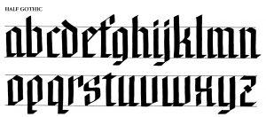 MargaretShepherd HalfGothic 2013 300x132 - Bắt đầu với nghệ thuật Calligraphy với bút thư pháp Artline