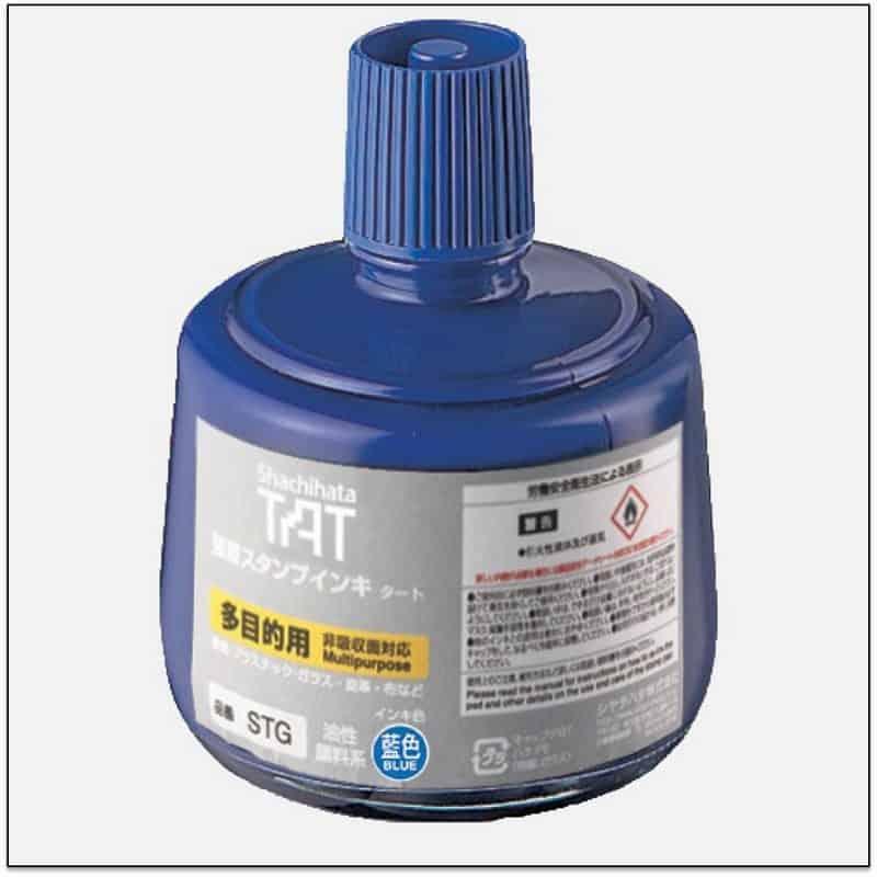 STG BLUE TAT ink mực đóng dấu không phai trong nhà máy