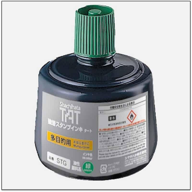 STG GREEN TAT ink mực đóng dấu không phai trong nhà máy