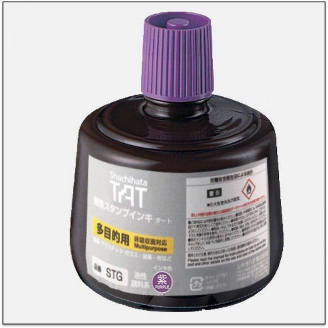STG PURPLE TAT ink mực đóng dấu không phai trong nhà máy