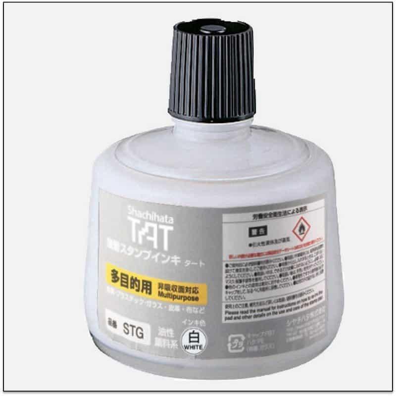 STG WHITE TAT ink mực đóng dấu không phai trong nhà máy