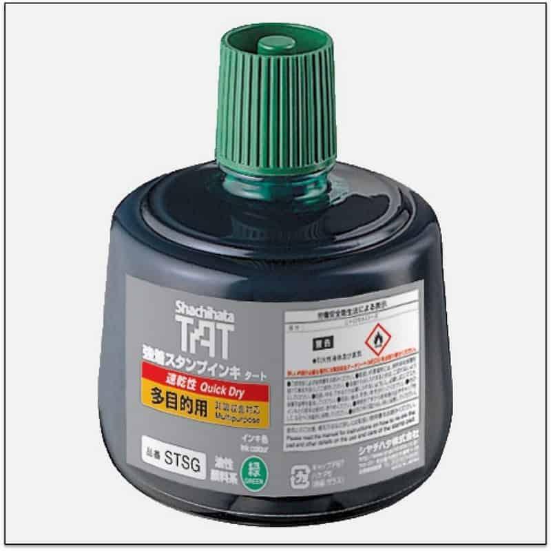STSG GREEN TAT ink mực đóng dấu không phai trong nhà máy nhanh khô