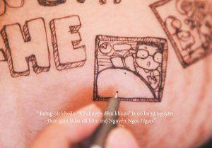 anh bau de thuong 300x209 - Bộ ảnh dễ thương vẽ bằng bút Artline của ông bố tặng con sắp chào đời