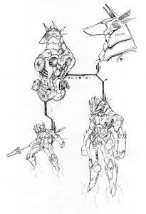 anubis by numioh 1 205x300 - Những bản phác thảo minh họa robot Anubis ấn tượng bằng bút đi nét Artline