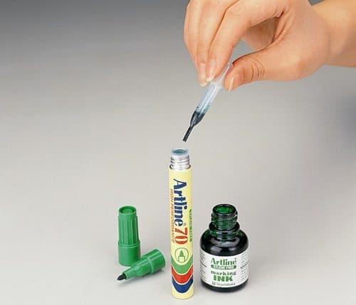 bút lông dầu Artline Japan 14 - Hướng dẫn bơm thêm mực cho bút lông dầu Artline