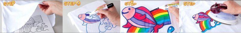 bút vẽ áo giặt không phai - Hướng dẫn sử dụng bút vẽ áo