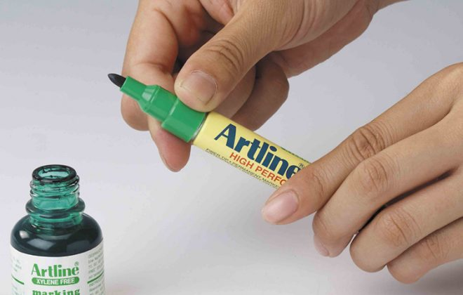 bơm mực bút lông dầu Artline Japan