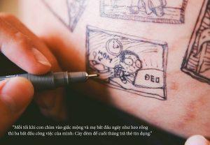 cau chuyen chong ve len bung vo bau roi chup anh lai day xuc dong 10 300x208 - Bộ ảnh dễ thương vẽ bằng bút Artline của ông bố tặng con sắp chào đời