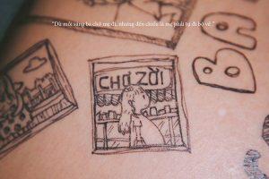 cau chuyen chong ve len bung vo bau roi chup anh lai day xuc dong 2 1 300x200 - Bộ ảnh dễ thương vẽ bằng bút Artline của ông bố tặng con sắp chào đời
