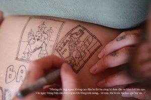cau chuyen chong ve len bung vo bau roi chup anh lai day xuc dong 2 300x200 - Bộ ảnh dễ thương vẽ bằng bút Artline của ông bố tặng con sắp chào đời