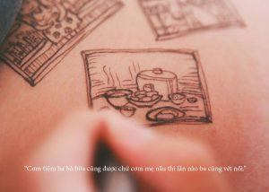 cau chuyen chong ve len bung vo bau roi chup anh lai day xuc dong 3 1 300x214 - Bộ ảnh dễ thương vẽ bằng bút Artline của ông bố tặng con sắp chào đời