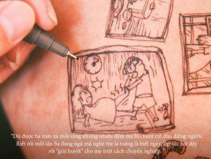 cau chuyen chong ve len bung vo bau roi chup anh lai day xuc dong 4 1 300x226 - Bộ ảnh dễ thương vẽ bằng bút Artline của ông bố tặng con sắp chào đời
