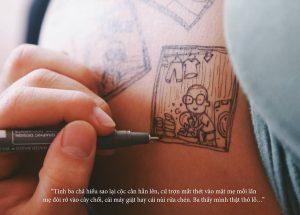 cau chuyen chong ve len bung vo bau roi chup anh lai day xuc dong 4 300x215 - Bộ ảnh dễ thương vẽ bằng bút Artline của ông bố tặng con sắp chào đời