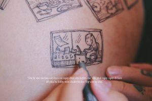 cau chuyen chong ve len bung vo bau roi chup anh lai day xuc dong 6 1 300x200 - Bộ ảnh dễ thương vẽ bằng bút Artline của ông bố tặng con sắp chào đời