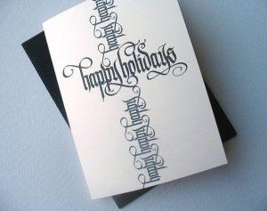 dd2392da1fde518a300be30fe4e3c419 holiday cards happy holidays 300x237 - Tự viết thiệp thư pháp tặng bạn bè bằng bút Calligraphy Artline.