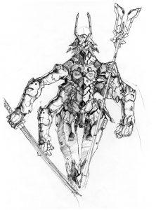 proximal by numioh 222x300 - Những bản phác thảo minh họa robot Anubis ấn tượng bằng bút đi nét Artline