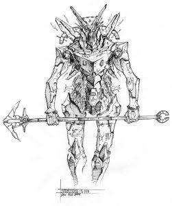sparttuss by numioh 251x300 - Những bản phác thảo minh họa robot Anubis ấn tượng bằng bút đi nét Artline