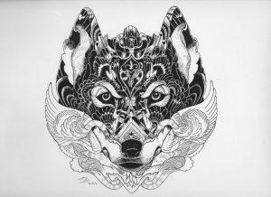 spirit of the wolf by hgmaniac15 d9o733t 300x218 - Bộ tranh vẽ cách điệu động vật ấn tượng bằng bút Artline